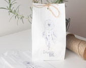 DREAMCATCHER  Paper Party favour bags, paper party favours, dream catcher favours, hand printed x 10