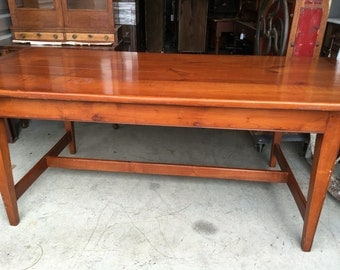 Beautiful Original Finish Solid Heavy Pine Farm Table 35.5d78L24.5h30h Shipping is not free