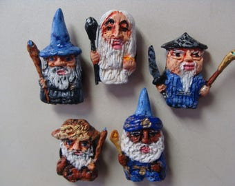 The Five Wizards(Istari) Refrigerator Magnet set  (Full Body Cutie Style)