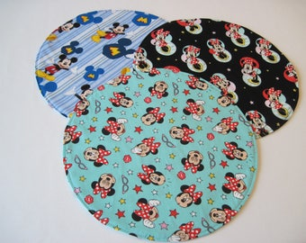 Mickey and Minnie Mouse Round Placemats Reversible Disney Placemats Mickey Mouse Placemats Minnie Mouse Placemats Disney table decor