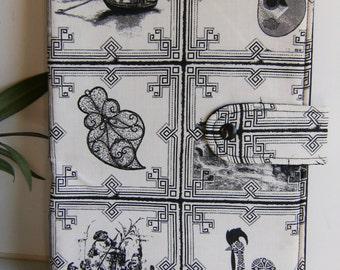 Portuguese motives  fabric  book cover    , handmade,Claudia Candeias, ready to ship