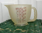 One Quart Tupperware Mix'N'Stor Batter Bowl, 4 Cup Measuring Cup, Mixing Storage Bowl, NO LID