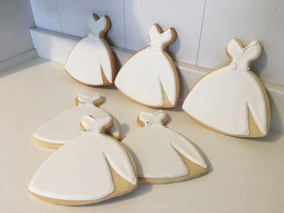 Wedding Dress Cookies - 1 Dozen