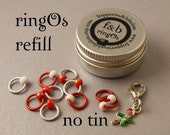 ringOs REFILL -  Candy Canes - Snag-Free Ring Stitch Markers for Knitting