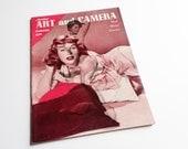 Vintage Amateur Art and Camera Magazine Summer 1958, Girly Magazine, 1950s Pulp Magazine, Semi-Nude Photography