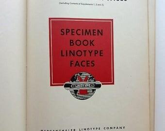 Specimen Book  Linotype Faces 1948