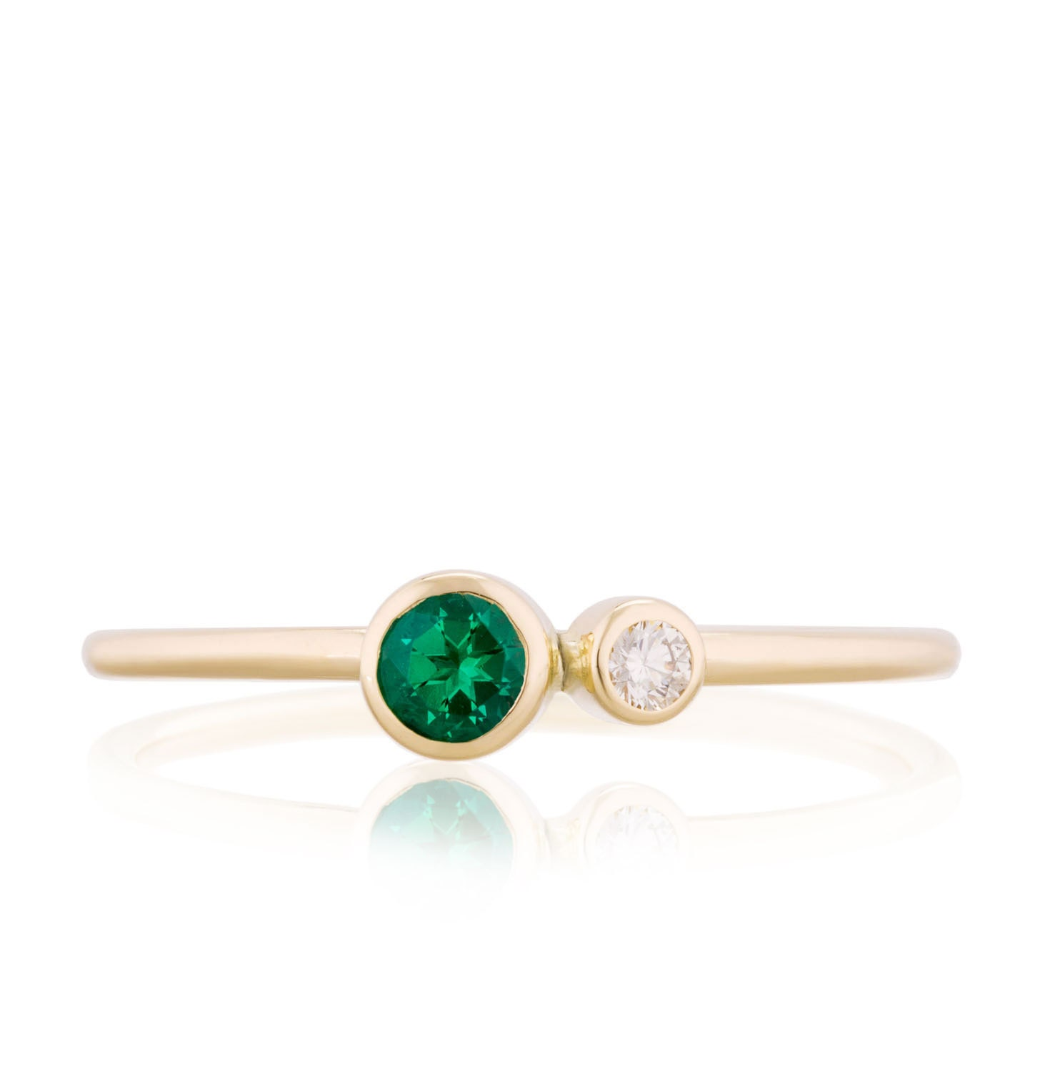 emerald birthstone ring 14k gold emerald and canadian