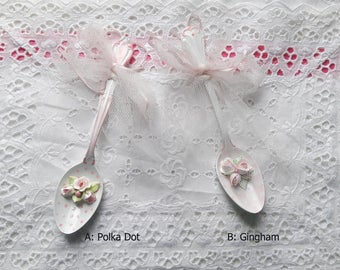 Kitchen Spoon Decorative pink roses four designs to choose from  Polka Dot Gingham Pink  Destash Discount Sale