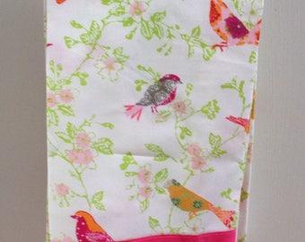 Pink and Grey Bird Tea Towels
