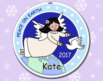 Angel Personalized Christmas Ornament - Dove