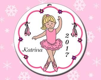 Ballet or Dance Christmas Ornament - Ballerina Design