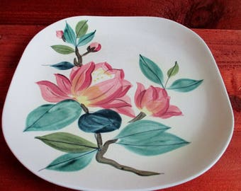 Red Wing Blossom Time Plate, MCM Dinnerware, Replacement Plate, Cabinet Plate, Display Plate, Handpainted