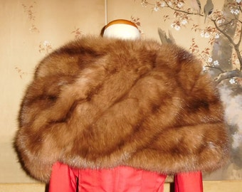Vintage Genuine Russian Sable Fur Stole..Not Mink