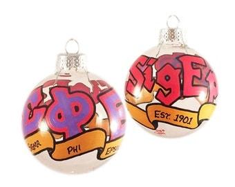 Very Small Handpainted Sigma Phi Epsilon Ornament