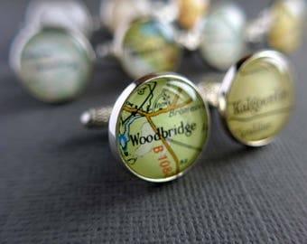 Customised Cufflinks, Custom Jewelry for Men, Men's Gift, Personalized Cufflinks