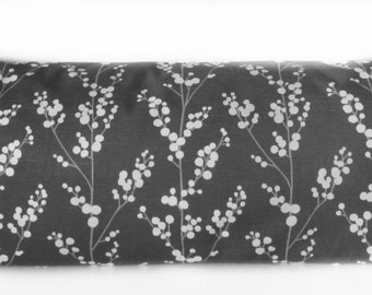 Pillow Cover - Evelynne Graphite - Asian Floral - vines print - botanical - Cushion Cover