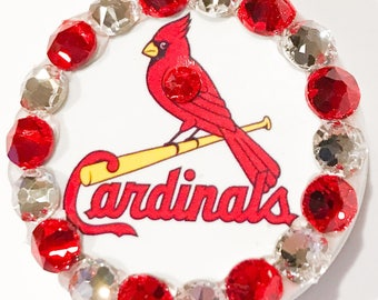St. Louis Cardinals Swarovski Crystal Embellished ID Badge Reel