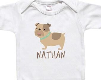 Personalized Baby Gift - Custom Bodysuit - Toddler Shirt Tshirt - Pug Dog Baby's Name