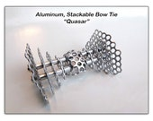 "Aluminum, Stackable Bow Tie ""Quasar"""