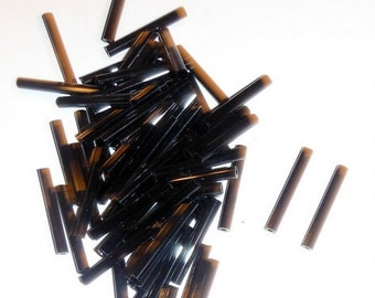 Bugle Beads- Black