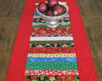 Christmas Fun Quilted Table Runner