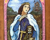 First communion confirmation gift for girl -  A Princess for your princess - St Adelaide Retablo