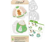 Sweet Sugarbelle Cookie Cutter Kit, Ugly Sweater Cookie Cutters, Christmas Cookie Cutters, Hot Cocoa Mug Cookie Cutter, Biscuit Cutter