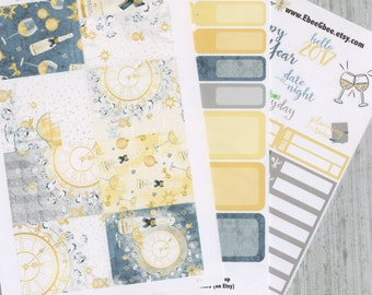 A LA CART New Years Eve Weekly Planner Sticker Sheets