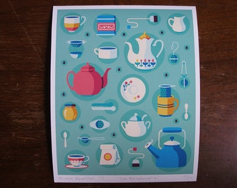 Tea Paraphernalia print