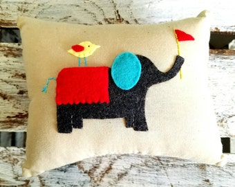 Children's Elephant Tooth Fairy Pillow