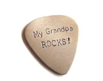 Aluminum guitar pick for Grandpa