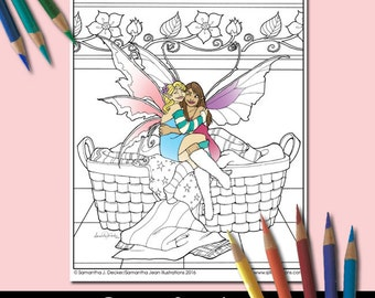 Fairy Coloring Page, Fantasy Coloring Pages, Best Friends, Adult Coloring Pages, Printable Coloring Pages, Coloring Pages to Print