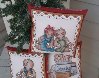 Gingerbread Pillow Tucks, Christmas Decoration, Gingerbread Decor, Gingerbread Cupboard Tucks, Christmas Ornaments, Gingerbread Ornies