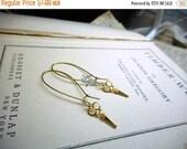 Cut Scissor Earrings. Raw golden brass mini Victorian scissors earrings Hair stylist hairdresser beautician.