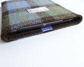 iPad Air padded cover in MacLeod HARRIS TWEED tartan, made in Scotland