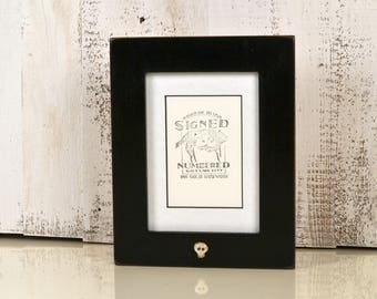 "5.25 x 7.25"" Picture Frame for 3.5x5 Photo Matted with Vintage Black and White Skull Finish - IN STOCK Same Day Shipping - 3 x 5 Photo Frame"