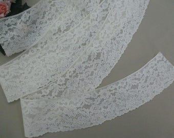 """68"""" Vintage French Curved Lace Trim Antique Lace Trim Cotton"""