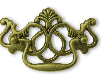 """Drawer Pull Chippendale Antique English Ornate 3"""" Centers"""