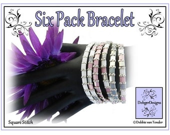 Tila Beading Pattern, Tutorial, Bracelet - SIX PACK