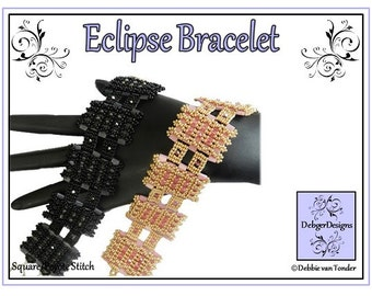 Beading Pattern, Tutorial, Tila bracelet - ECLIPSE