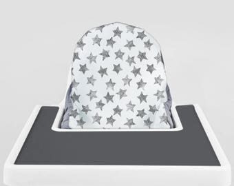 Grey Starry Watercolor // IKEA Antilop Highchair Cover // High Chair Cover for the PYTTIG Cushion // Pillow Slipcover