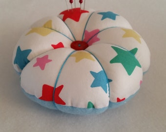 Handmade Large Pin Cushion made from Cath Kidston STAR fabric