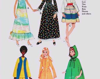 PDF - Sewing Pattern for dolls such As Dawn Topper and other similar sized fashion dolls