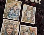 GODDESS RISING, art altar cards, rituals, divination, spells, magic, alchemy, Witch, wiccan, pagan, Divine Feminine, psychic, energy, tarot
