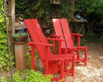 Classic Lounge Chair Comfy and Colorful - Garden, Patio, Deck - LOCAL Seattle PICKUP ONLY - Custom Garden Furniture by Laughing Creek