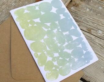 Connemara Dry Stone Wall Lino Print Greeting Card