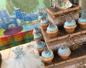 PICK ME SALE rustic cake stand / rustisc cupcake stand /  wedding decor / table centerpiece / 3 tier cupcake stand / cupcake holder / weddin