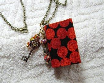 Handmade Book Necklace - Book Jewelry - Book Pendant - Book Journal - Handmade Book - BN-180