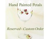 Reserved for T:  Custom Painted Champagne Glass - Peace Sign with Flowers, Feathers and Barbed Wire - Wildflowers Rustic Wedding Glasses