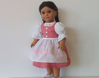 Spring Dirndl for American Girl and Other 18 inch Dolls